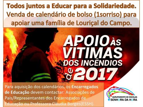 Apoio às vítimas dos incêndios