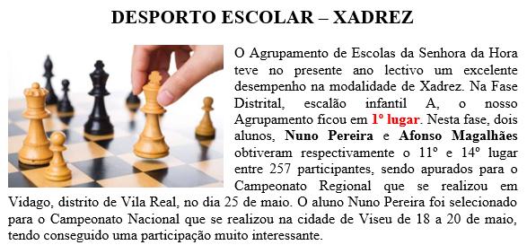 Desporto Escolar - Xadrez