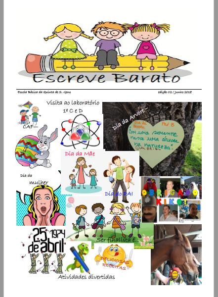 2º Edição Jornal Escreve Barato - Escola Básica Quinta de São Gens